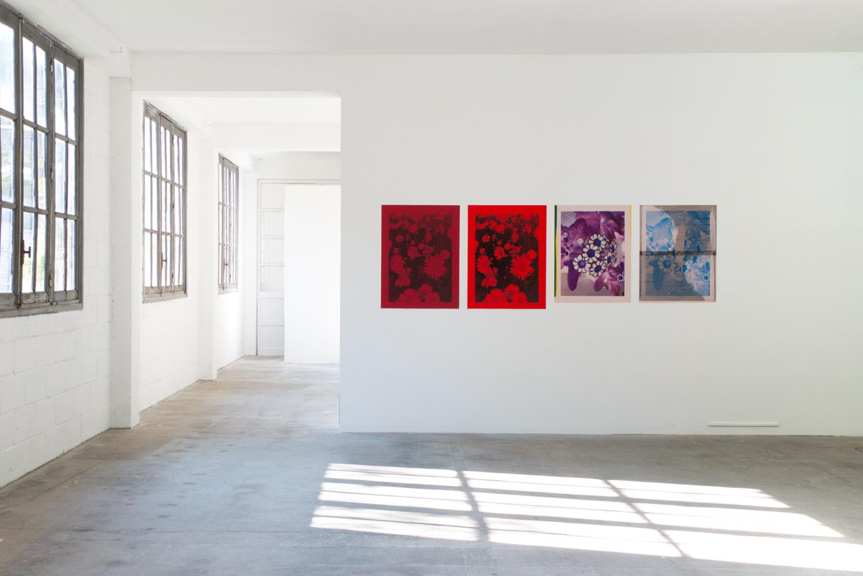 vue d installation posters — Charlotte Houette, Artiste